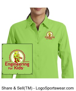 Ladies Long Sleeve Easy Care Shirt Design Zoom
