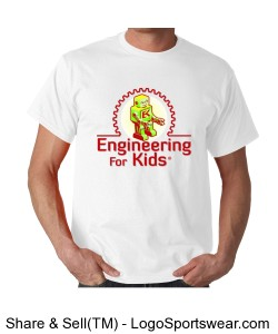 Engineering For Kids White T-Shirt Design Zoom