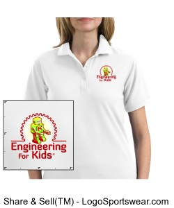 White Polo Staff Shirt for Ladies Design Zoom